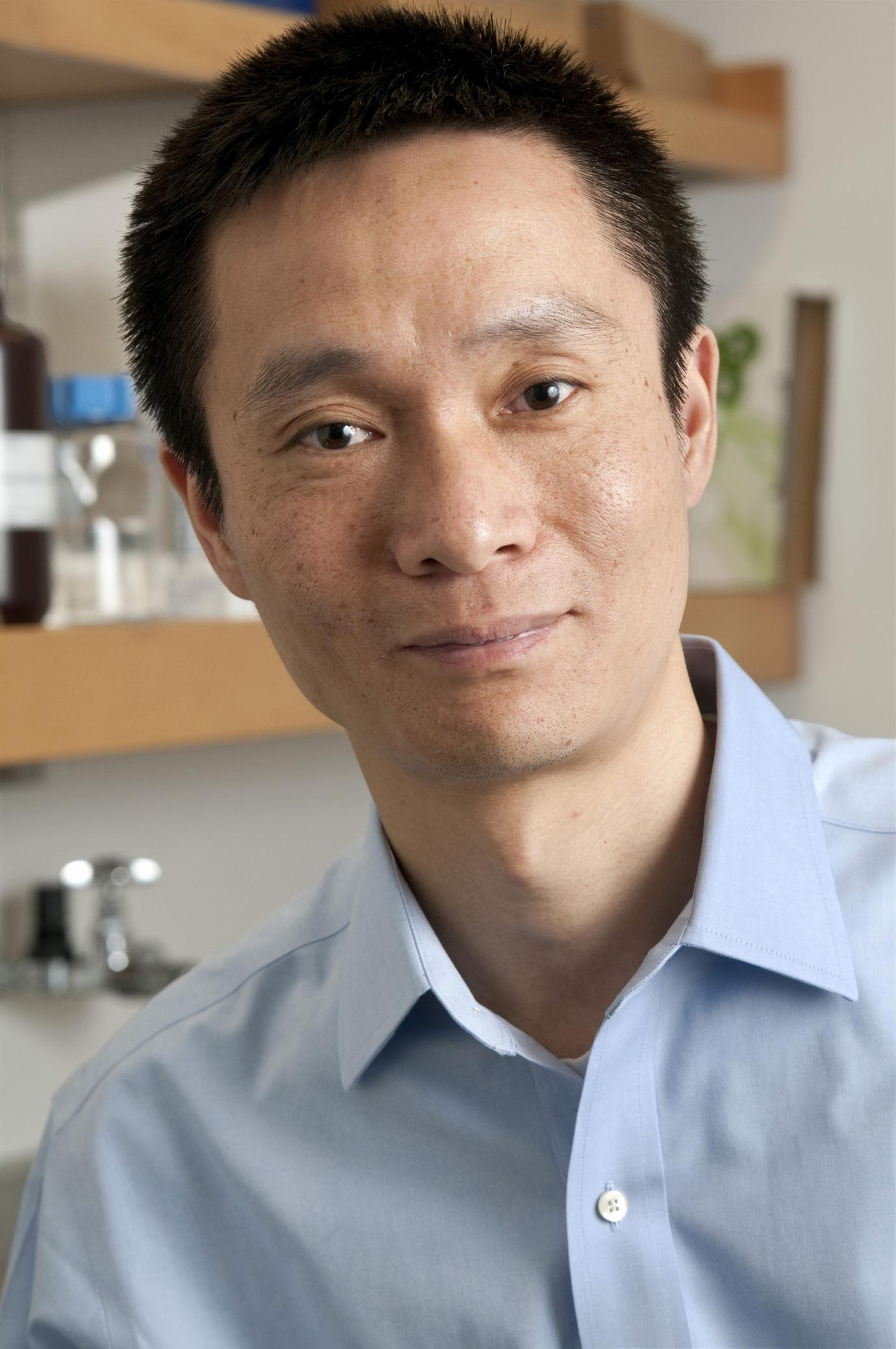 portrait of Prof. Chuan He in a laboratory