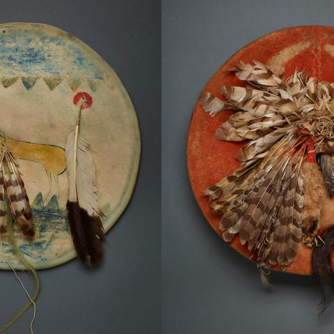 Two Apsáalooke war shields from Field Museum collection