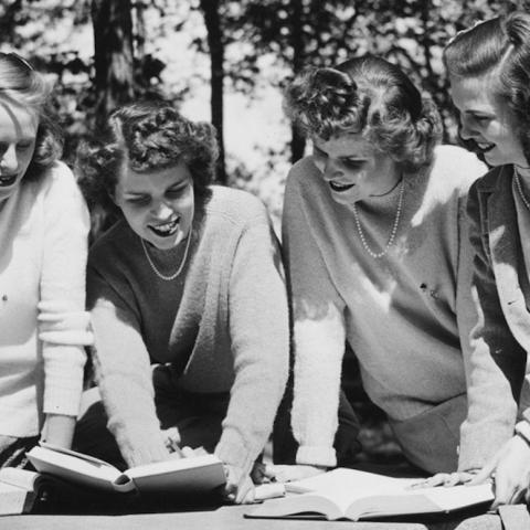 UChicago students read on campus in an undated photo