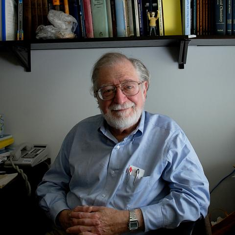 Prof. Stephen Berry in his office