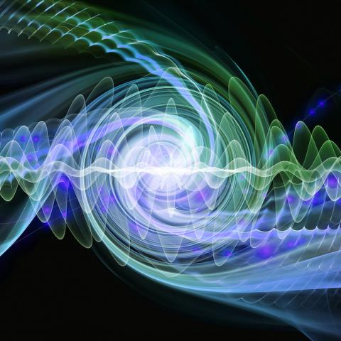 A concept illustration of quantum wave-particle duality