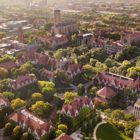University of Chicago campus aerial