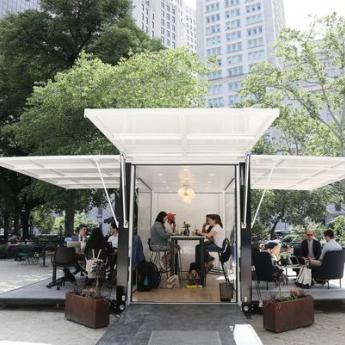 Desk, swivel chair, trees: Why companies are moving the office outdoors