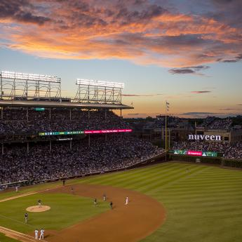 Wrigley at Sunset