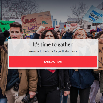 Gather Activism homepage