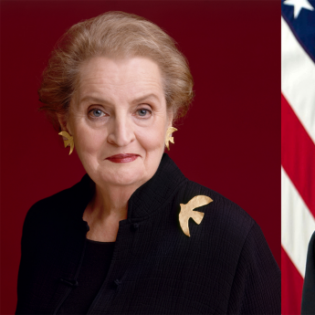 Madeleine Albright and Chuck Hagel