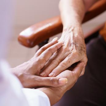 Carer with an older patient