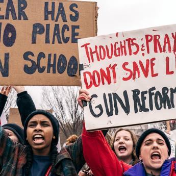 Students protest gun violence in Washington, D.C.
