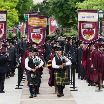 Procession at the University of Chicago's Convocation