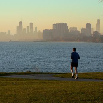 Chicago - Lakefront jogger
