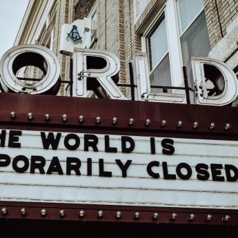 The World, a movie theater in Kearney, Nebraska, is temporary closed
