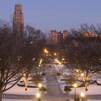 University of Chicago Quad during the winter
