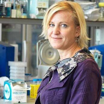 Prof. Melody Swartz in laboratory