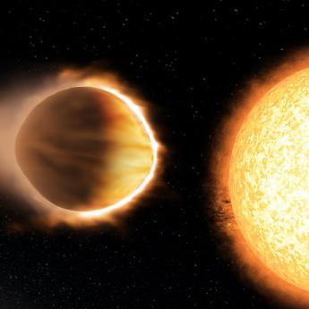 Artist illustration of the exoplanet WASP-121b