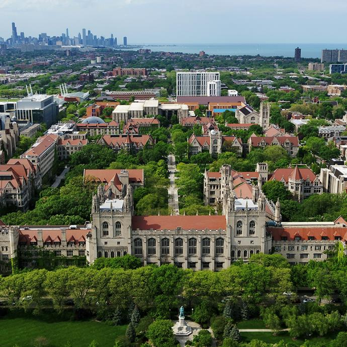 UChicago campus aerial